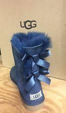 s navy ugg boots ugg australia bailey bow stripe navy blue fur boots womens 10 ebay