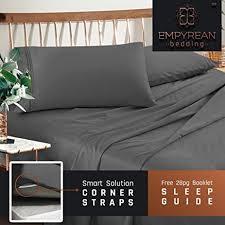 Grey Linen Bedding Amazon Com Premium Queen Sheets Set Grey Charcoal Gray Hotel