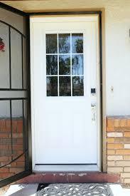 the front door before painting it