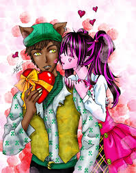 draculaura and clawd i heart you clawd by aichan25 on deviantart