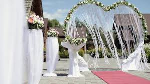 wedding arches decorated with flowers wedding arch decorated with flowers before the wedding ceremony in