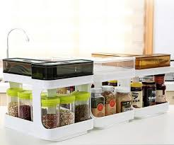 Spice Rack Storage Organizer Chef U0027s Kitchen Pull Out Space Saver Spice Rack Storage Container