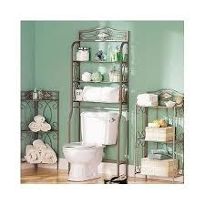 Bathroom Hutch Over Toilet Metal Bathroom Shelving Rack Storage Towel Organizer Shelf Wall