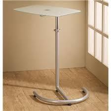 Swivel Laptop Desk Coaster 800746 Contemporary Computer Desk With Chrome Legs