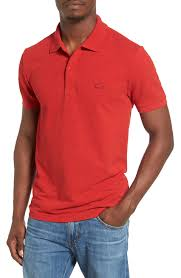 lacoste red polo shirts for men nordstrom