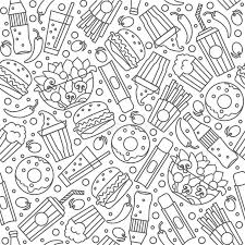 seamless pattern food fast food seamless pattern stock illustration illustration of