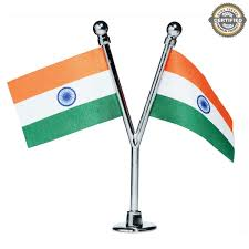 Miniature Flags Dual Indian Miniature Car Dashboard Flags With A Chrome Plated Y