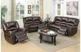 Brown Leather Recliner Sofa Becky Modern Leather Recliner Sofa