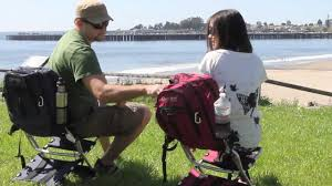 Folding Chair Backpack Chairpak The Lightweight Comfortable Backpack Chair Youtube