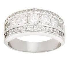 qvc wedding bands epiphany diamonique wide eternity band qvc jewelry