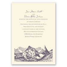 mountain wedding invitations watercolor mountain invitation invitations by