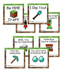 minecraft valentines cards 9 cool printable minecraft valentines other geeky themes