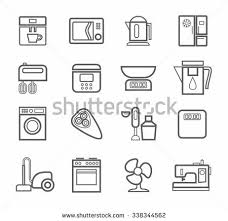 icons household appliances appliances kitchen colored stock vector