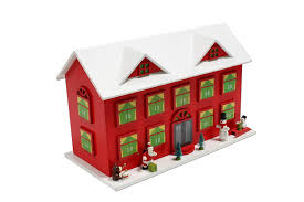 Haus Kaufen Holzhaus Amazon De Advents Kalender Holzhaus Haus Holz Advent Xxl 44 X 28 X 22