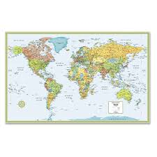 Blank Color World Map by Amazon Com Rand Mcnally Rm528959948 Rand Mcnally Full Color 50 X
