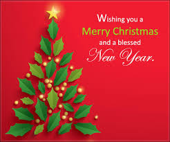 wishing you a merry and new year card