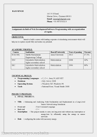 Sample Resumes For Engineering Students by Sample Resume Format For Mechanical Engineering Freshers Filetype