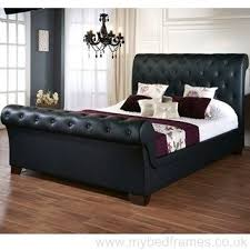 Black Leather Sleigh Bed 58 Best Leather Bed Frames Images On Pinterest Leather Bed Frame