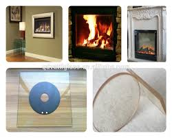 ceramic fire resistant glass fireproof glass panel for fireplace