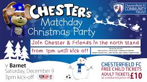 Christmas Party Ticket Chester U0027s Matchday Christmas Party Chesterfield Fc Community Trust