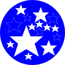 Blue Flag With Stars Stars Free Stock Photo Illustration Of A Blue Circle With