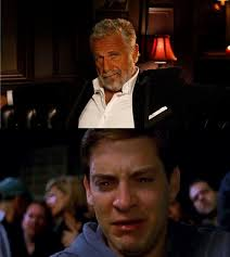 Dos Equis Meme Generator - dos equis crying tobey2 blank template imgflip