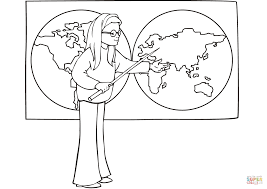 on geography lesson coloring page free printable