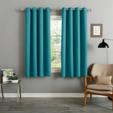 aurora home teal grommet top thermal insulated blackout curtain
