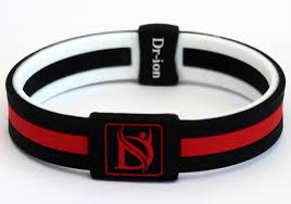 power wristband bracelet images Reversible negative ion wristband of dual design black white red jpg