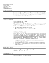 Resume Examples For Sales Associates  resume samples sales