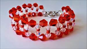 beads bracelet designs images Basic beaded bracelet design using crystal beads easy tutorial jpg