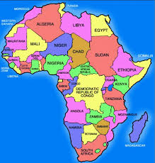 africa map with country names and capitals countries their capitals regions and presidents