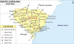 usa carolina map south carolina map map of south carolina cities and roads