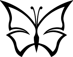 simple abstract butterfly coloring kids butterfly cartoon