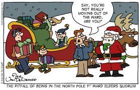 mormon cartoonist santa u0027s sleigh
