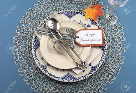 Table Place Settings by Beautiful Vintage Thanksgiving Dinner Table Place Setting With