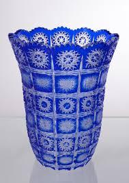 Cobalt Blue Crystal Vase Cobalt Blue Crystal Bell Vase Crystal Treasury Com
