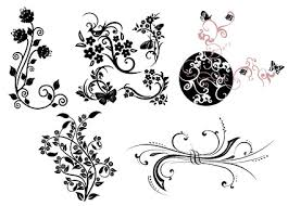 butterfly pattern practical butterfly vine pattern vector