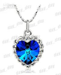 diamond blue necklace images Wholesale hot sale blue crystal necklace diamond necklace heart jpg