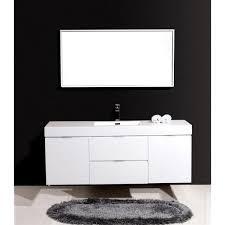 59 Bathroom Vanity Single Sink by Kubebath Bliss 60