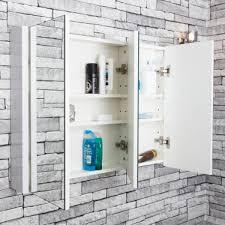 3 Door Mirrored Bathroom Cabinet Premier 3 Door Mirrored Cabinet 900mm W X 650mm H White 1
