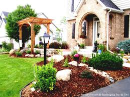 rock mulch landscaping ideas for country home backyard homelk com
