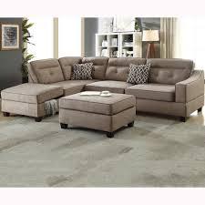 Sectional Sofa With Ottoman Venetian Worldwide 3 Mocha Sectional Sofa With Storage