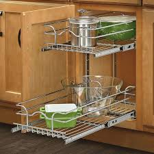 kitchen cabinet pull out storage racks wire basket pullout shelf storage organizer for cabinets