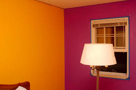 bed room wall paiting double colors home combo