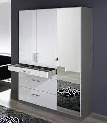 Schlafzimmerschrank Grau Schrank Weiß Spiegel Mxpweb Com