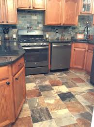 Tumbled Slate Backsplash by Slate Tile Backsplash Ideas How To Install Glass Tiles On Kitchen