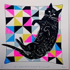 Screen Print Design Ideas Cat On Cushion Print Staff Picks Ashley Gift Ideas Art Prints