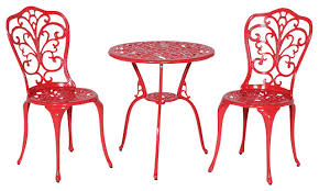 red pub table and chairs cool red bistro table with daisy bistro table and chairs set red