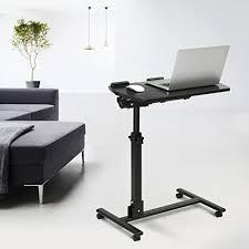 Movable Computer Desk Langria Laptop Table Mobile Desk Cart Adjustable Laptop Cart